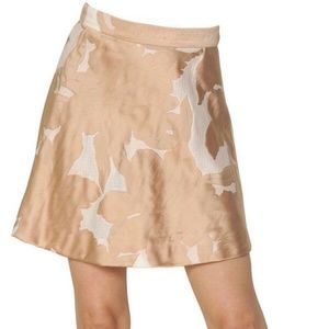 Chloe Embroidered Floral Jacquard Skirt FR 34 0-2